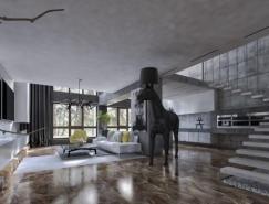大气前卫的现代联排别墅室内