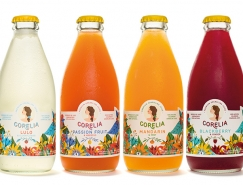 Corelia起泡果汁包装设计
