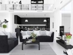 30个黑白配色的现代客厅BB彩票官网
