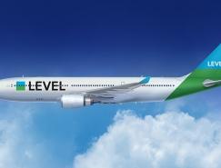 英国廉价航空公司LEVEL品牌形象设计