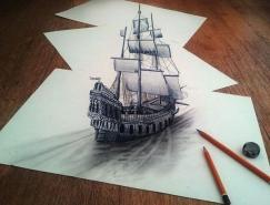 21张逼真的3D铅笔画