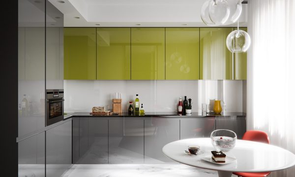 3个使用玻璃隔断墙的小公寓装修设计