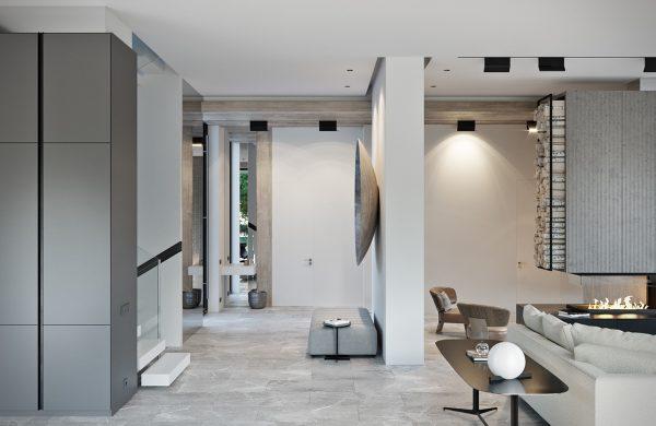 莫斯科高端豪华的现代住宅装修设计