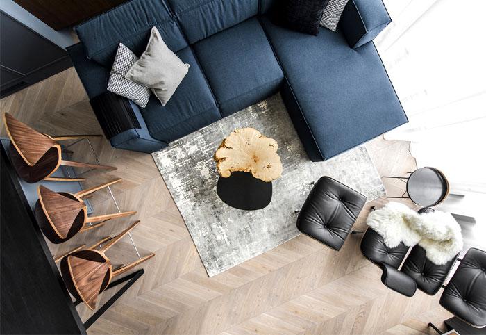 立陶宛现代舒适和豪华的复式住宅设计