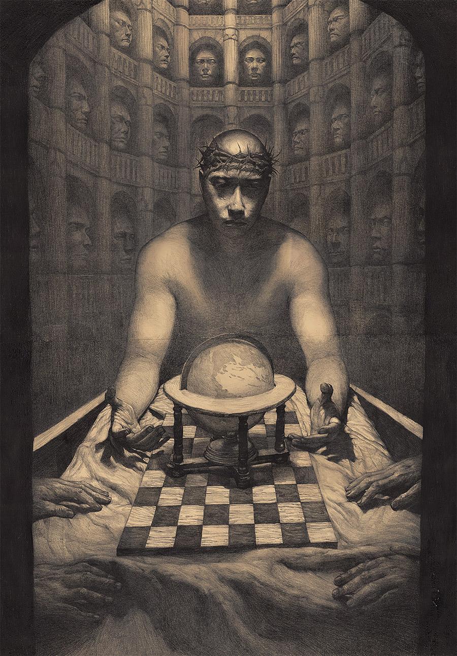 插画师So PineNut黑色虚幻和奇怪的世界