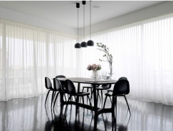 20个黑白装修风格餐厅设计