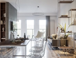 2套时尚简约的公寓装修设计
