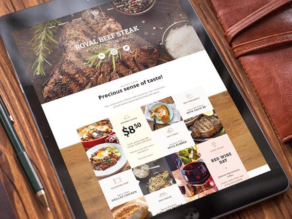 40个美味餐厅概念UI界面设计