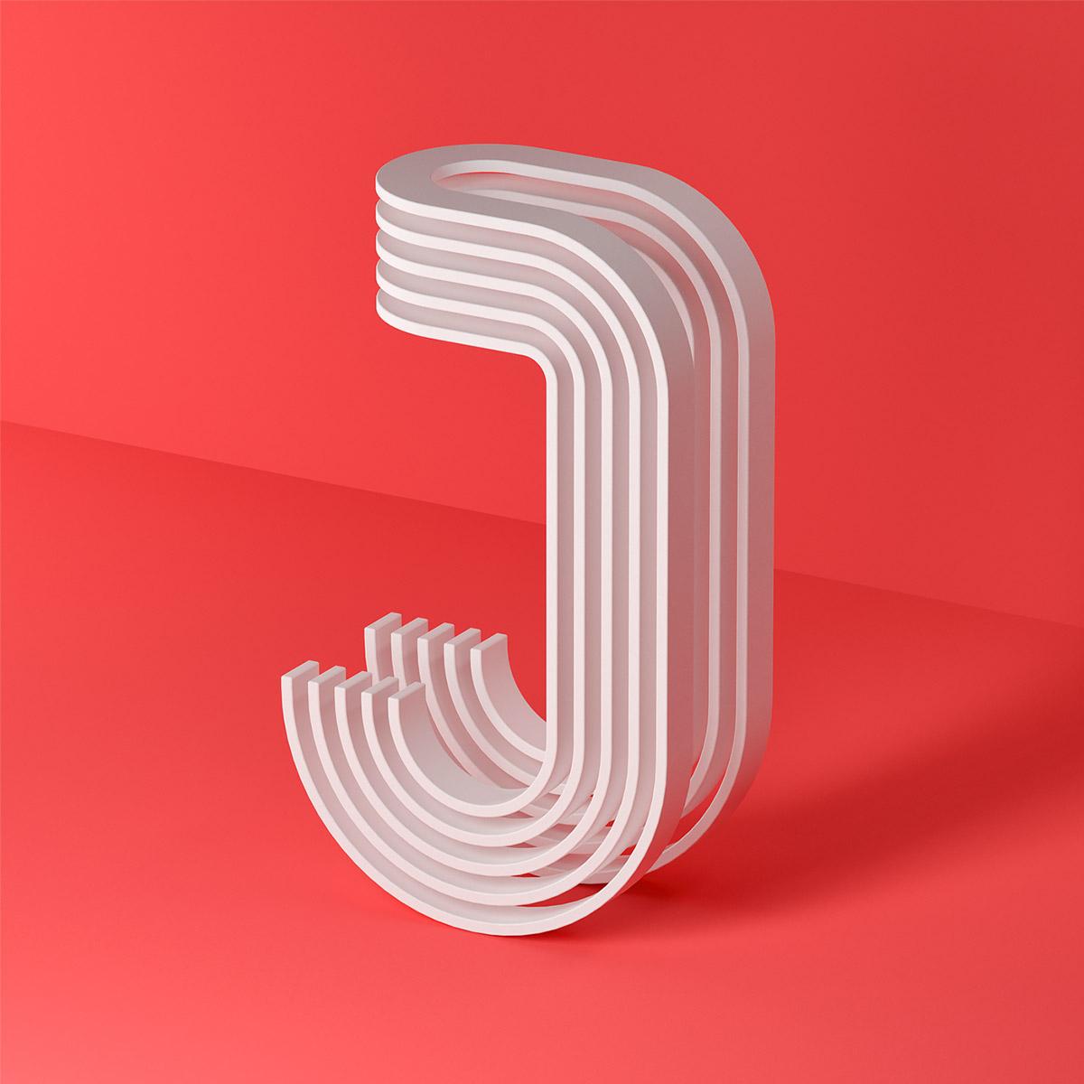 Serafim Mendes创意3D字母设计