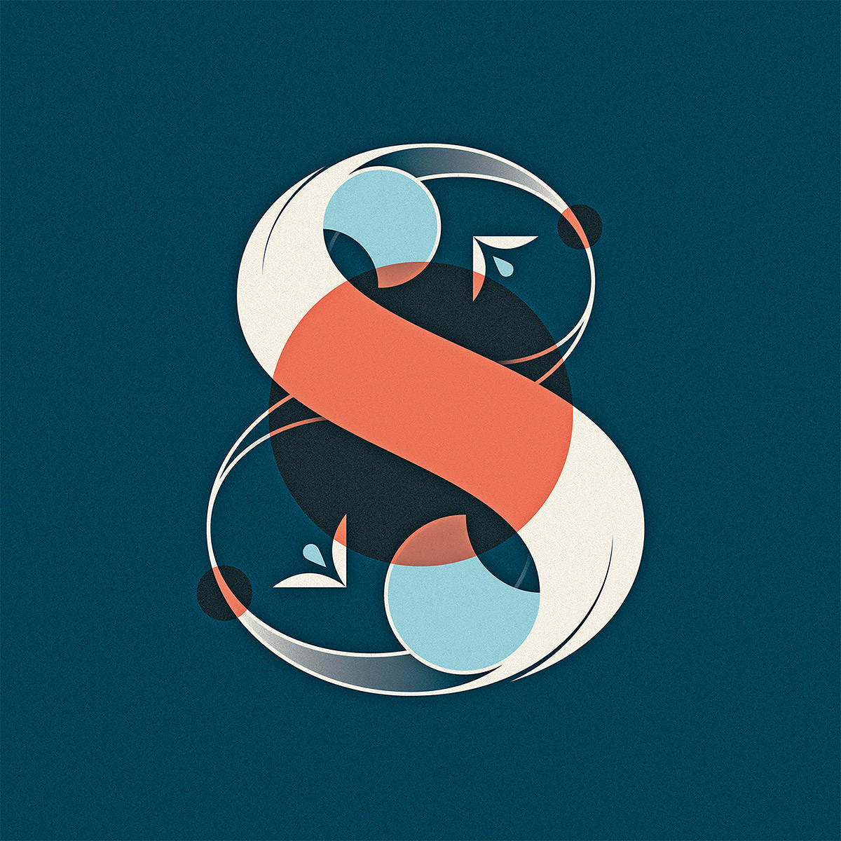 Nick Matej字母和数字设计