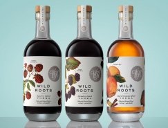 Wild Roots Vodka伏特加酒包装设计