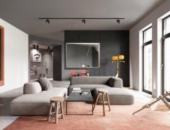 创造性的空间划分:145平方米现代