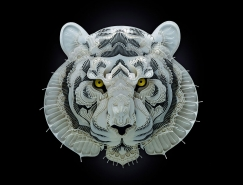 Patrick Cabral细腻传神的动物纸雕艺术