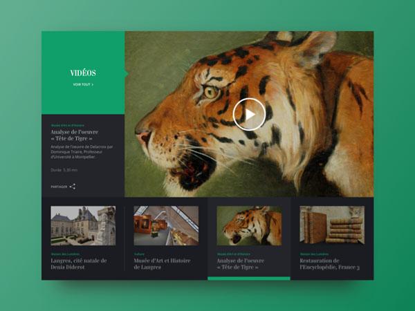 40创意视频播放器UI设计