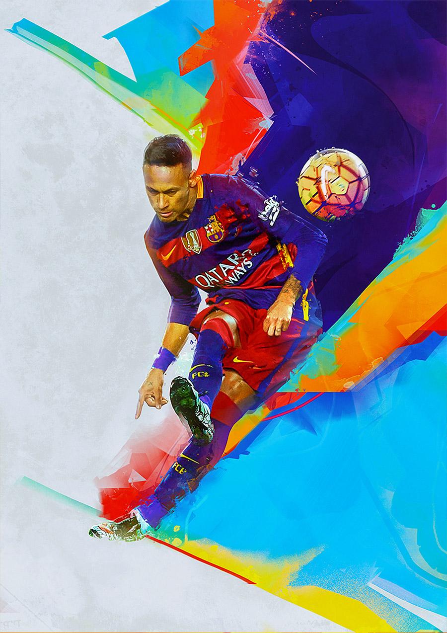 体育资讯_Denis Gonchar足球明星插画作品 - 设计之家