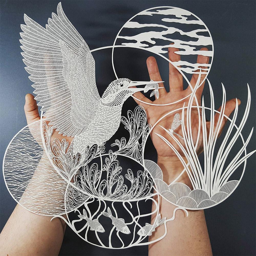 Pippa Dyrlaga创意的剪纸艺术作品 设计之家