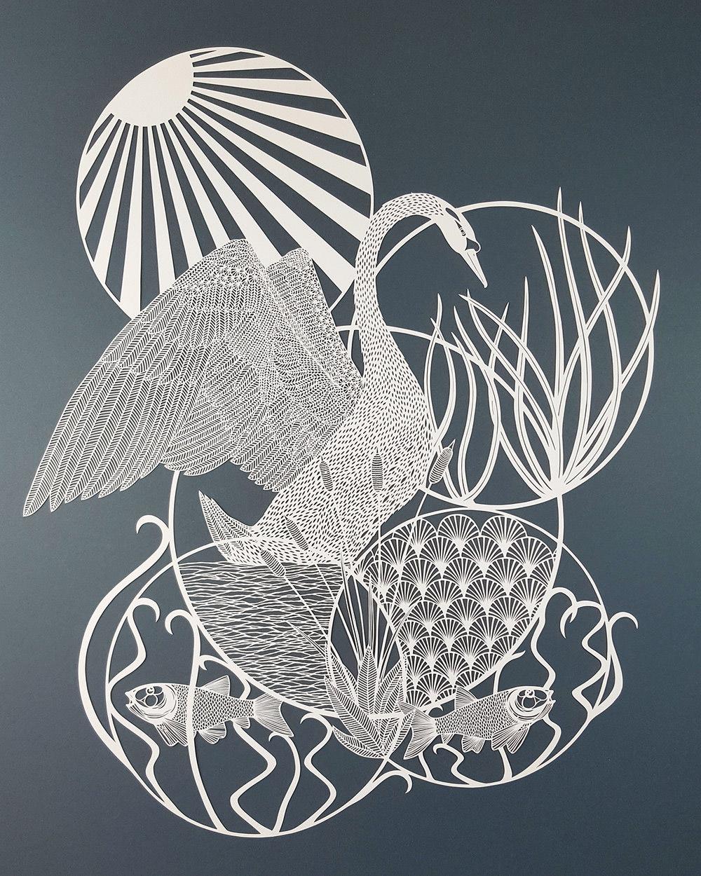 Pippa Dyrlaga创意的剪纸艺术作品