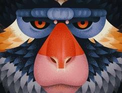 Anano Miminoshvili猴子肖像插画欣赏