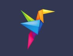 30款折纸风格logo设计欣赏