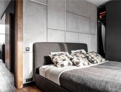 Mezzanine时尚酷灰LOFT公寓设计