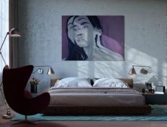 40个工业风格的卧室设计