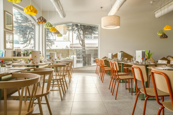 Pulcino Bio有机餐厅空间设计 设计之家