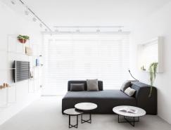 特拉维夫黑白极简风格公寓