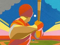 Pete Reynolds缤纷色彩的插画作品