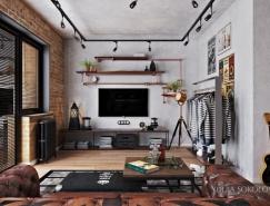 4个酷炫工业风格公寓设计
