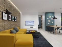 L型布局的两居室简约装修设计