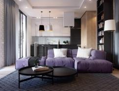 现代配色方案的一居室公寓设计
