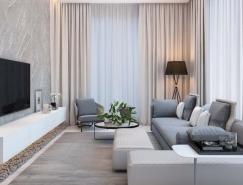 莫斯科简约现代的公寓设计