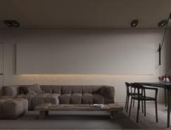 极简主义和酷灰色彩:2套现代公寓设计欣赏