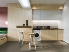 23平米超级紧凑空间的极简小公寓设计