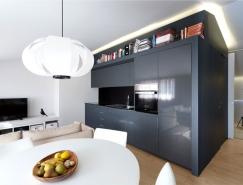 巧妙布局和简约设计:46平米漂亮的阁楼公寓