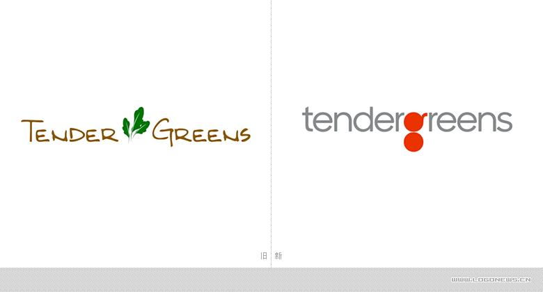 """美国连锁快餐店Tender Greens启用新LOGO 突出字母""""g"""""""