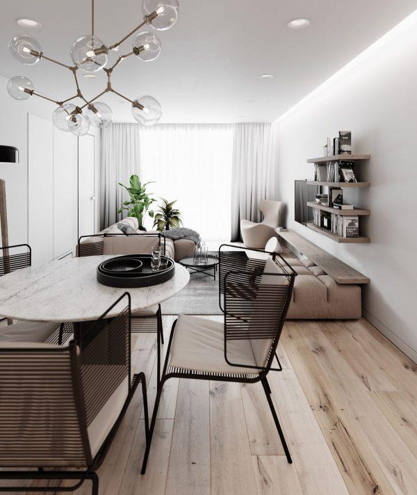 2个现代极简的家装设计