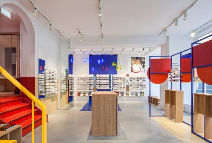 哥本哈根ACE & TATE时尚眼镜店设计