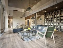 3个使用混凝土墙板的工业风格公寓装修