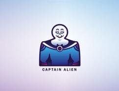 标志设计元素应用实例:外星人