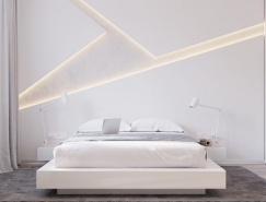 32个安静纯美的白色卧室设计