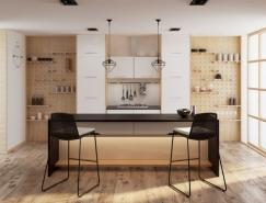 40个漂亮的开放式厨房,体育投注
