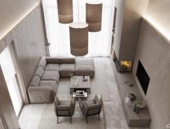 优雅素净的豪宅装修效果图设计