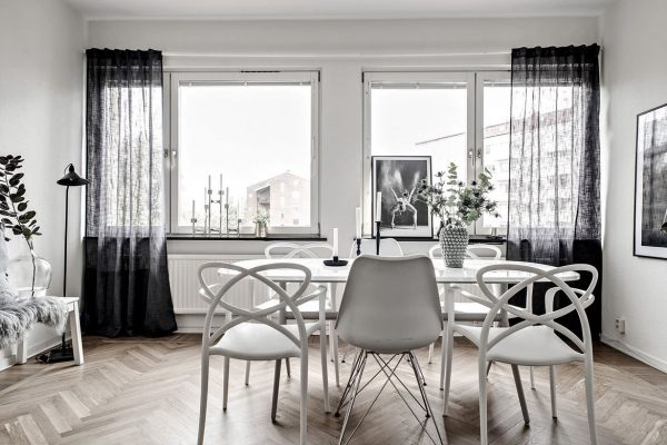 3个黑白色简约风格家居装修设计