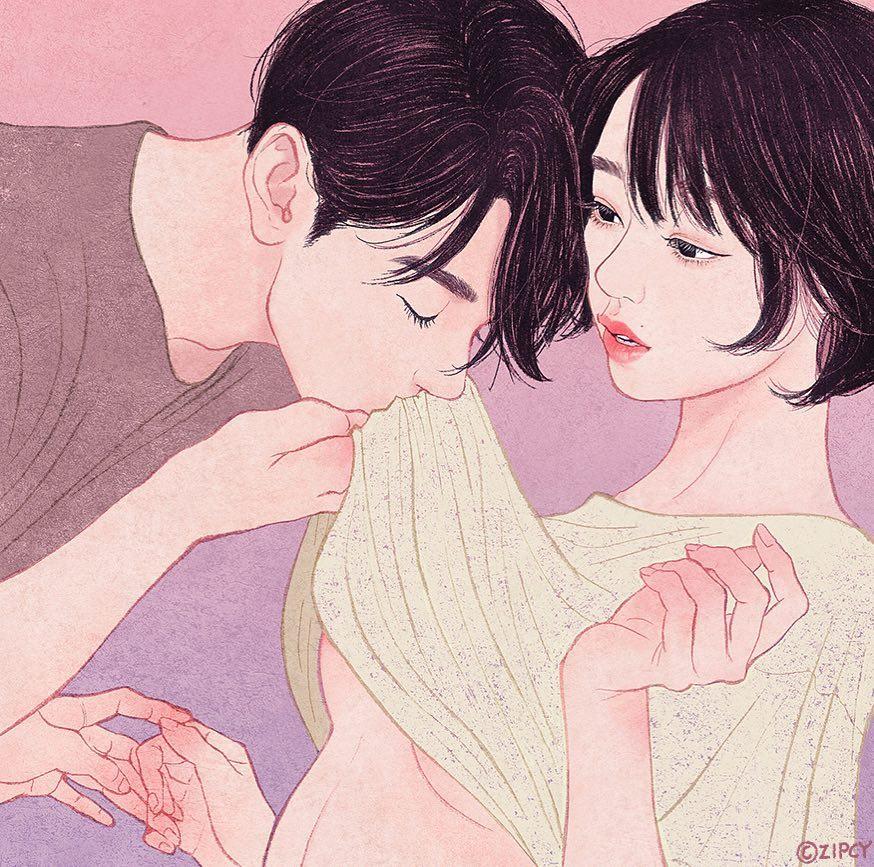 甜蜜的浪漫:韩国插画师Zipcy作品欣赏