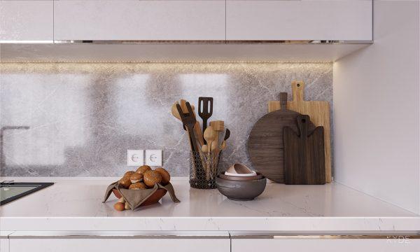 华沙开放式结构的优雅时尚公寓设计