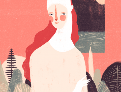 Willian Santiago简约抽象的装饰艺术插画
