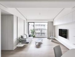 2個幹淨極簡風格的白色公寓設計