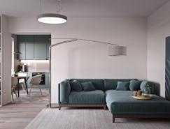 2个紧凑简约的60平米小公寓设计