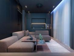 2个暗黑风格L型小公寓设计